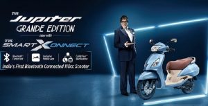 TVS Jupiter Grande, SmartXConnect, Bluetooth Technology, TVS Motor Company, Total Sales, TVS, Two-Wheeler Sales, Motorcycle Sales, Scooter Sales, Three-Wheeler Sales, TVS Motor Company Q1, TVS Motor Q1, TVS Motor Q1 Result, TVS Motor Q1 Revenue, TVS Motor Q1 Sales